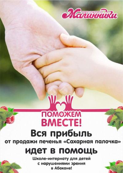 помощь школе-интернату для детей с нарушениями зрения, Малинники, Абакан