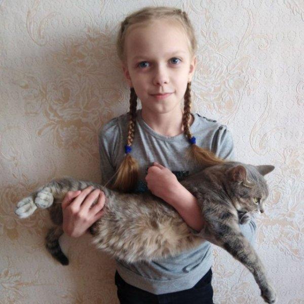 Участники №19. Кира с любимой Мурочкой, Конкурс Я и мой питомец, Тобольск