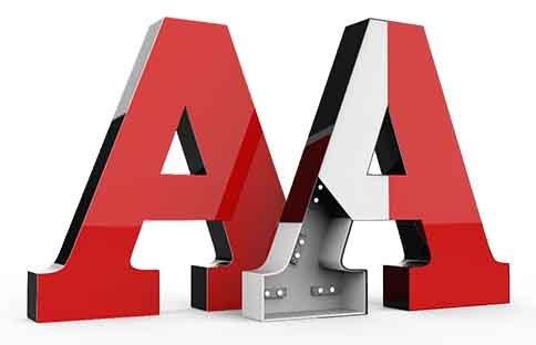 Буквы объёмные , Рекламное агентство ,  Талгар