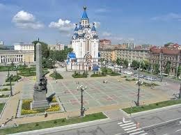 Комсомольская площадь,Городская площадь,Хабаровск