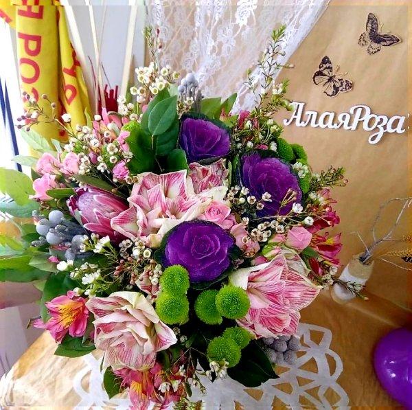 Алая роза,Доставка цветов и букетов, Магазин цветов, Искусственные растения и цветы,Тюмень