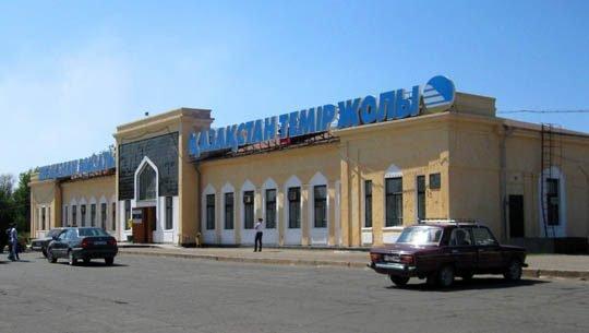ЖД вокзал, железнодорожный вокзал,,  Жезказган