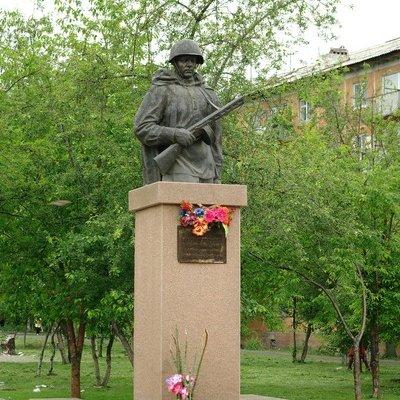 Памятник Александру Матросову в Красноярске,Достопримечательности Красноярска,Красноярск