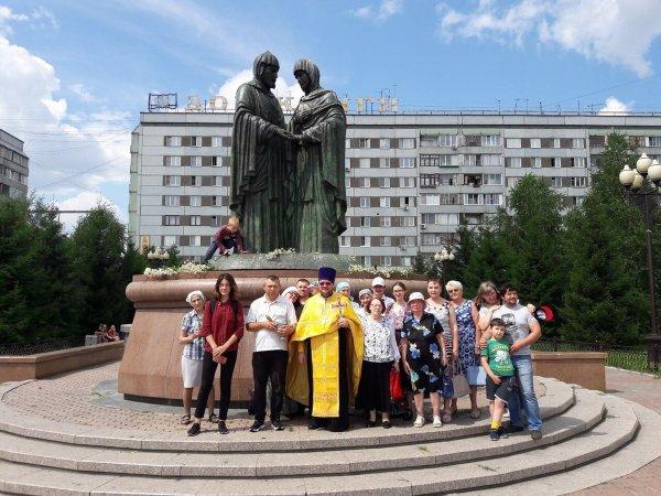 СВ. Петр и Феврония Муромские,Памятник, скульптура,Красноярск
