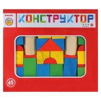 Конструктор деревянный Цветной 65 дет. томик