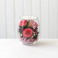 Розовая роза в малом тюльпане