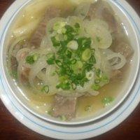 Мясо по казахски с бульоном