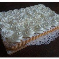 Пирог Творожный с натуральными сливками