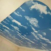 Небо в облаках на потолке