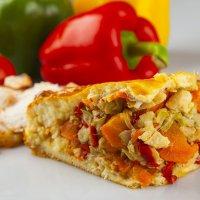 Пирог курица и овощи