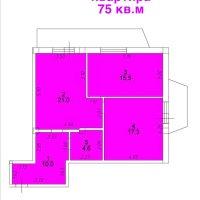 2-комн. квартира (75 кв.м.)