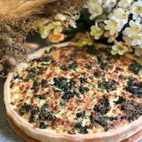 Пирог со шпинатом и сыром
