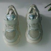 Кожанные кроссовки с сеткой