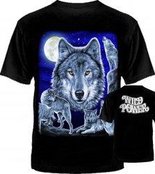 Волк с семьёй луна слева