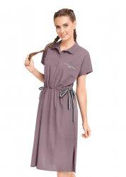 Платье LDR21-895 кофейный