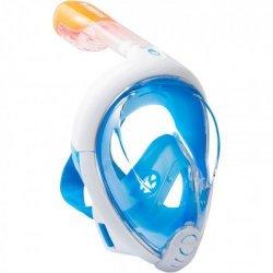 Маска для плавания цвет голубой