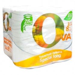 Туалетная бумага Ova 8шт 3 слоя