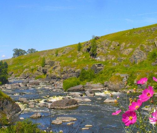 Водопад Гилевский + Шишинский водопад +  перекат Ревун + река Исеть + Смоленская пещера