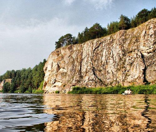 Природный парк на реке Реж.