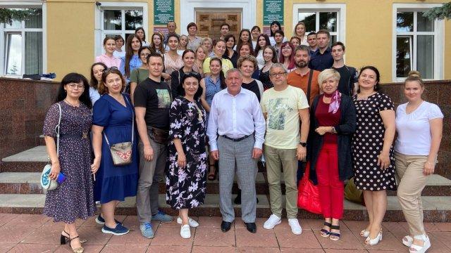 Более 45 журналистов встретились с Главой Лениногорского района Рягатом Хусаиновым