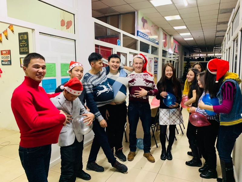 A piece of how we celebrate any events), Marty's language center, Талгар