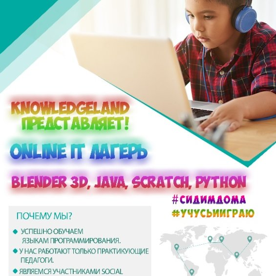 Online лагерь для детей , Knowledgeland, Витебск