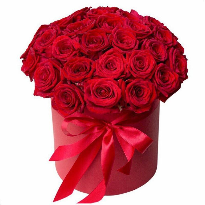 Корбка из роз.