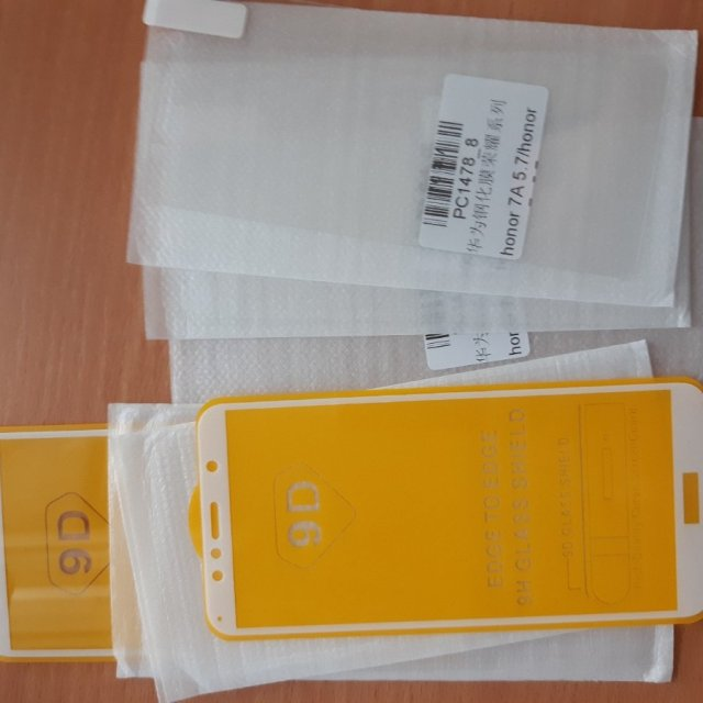 Защитное стекло на Huawei honor 7A pro