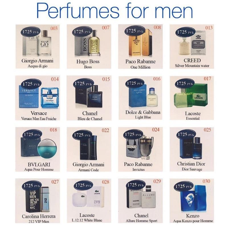 Изображение брендовых флаконов для более лёгкого выбора направления аромата, Essens-Parfum, Сургут