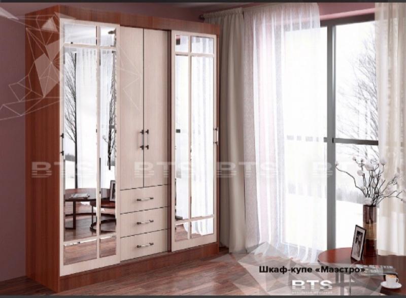Шкаф-купе Маэстро 14400=, мебельный магазин Лада
