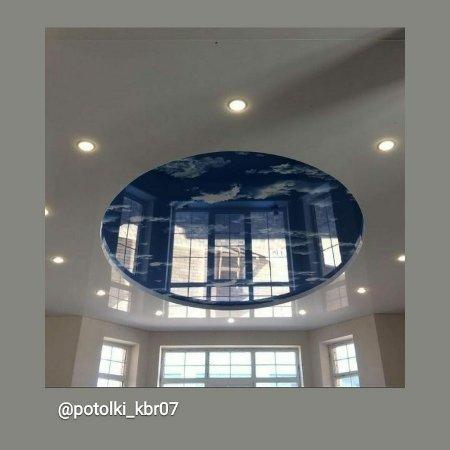 Двухуровневый натяжной потолок 🌌⚪,