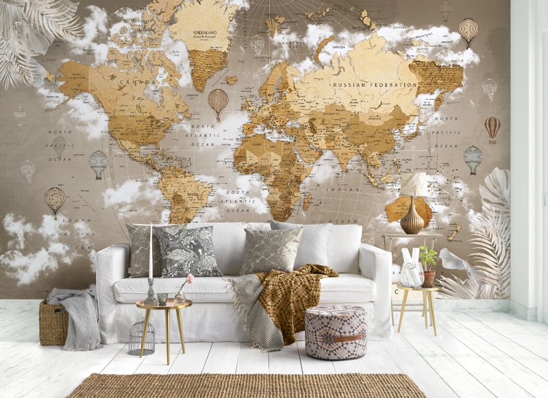 Карта мира  от Фотообои Красноярск, Арт дизайн