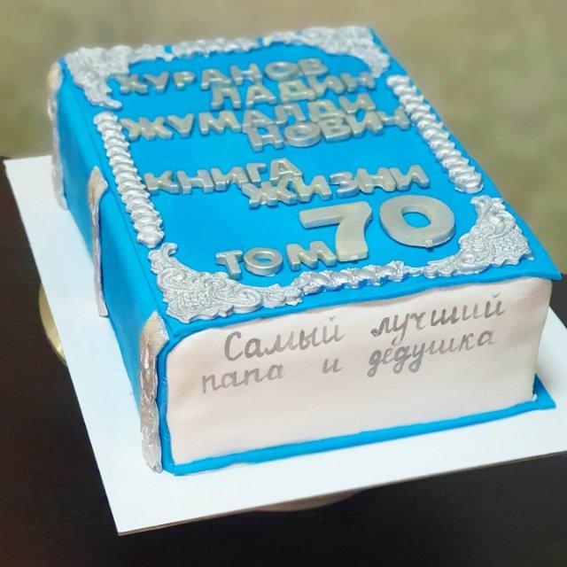 Пример оформления мужского торта)