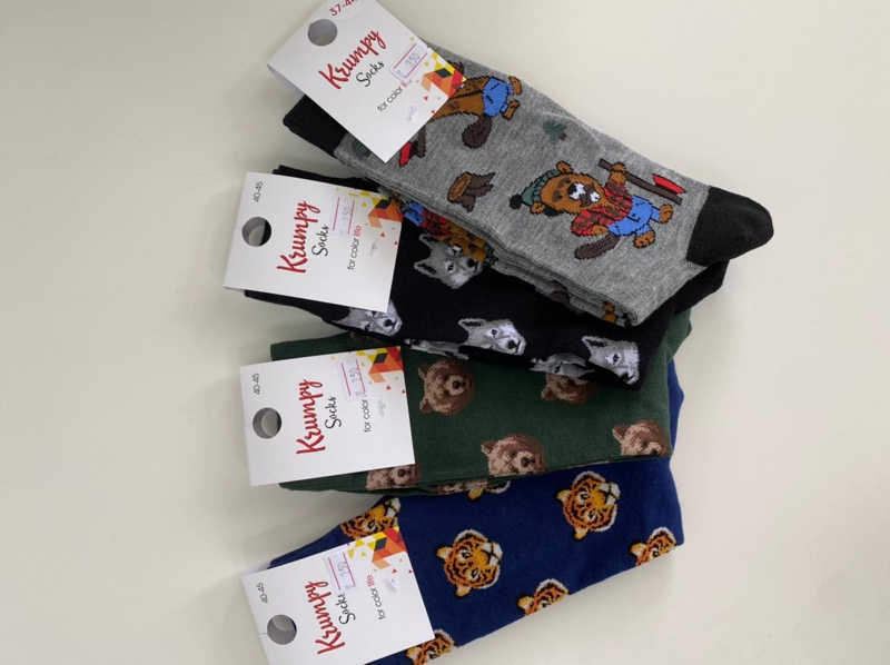 Носки с принтами