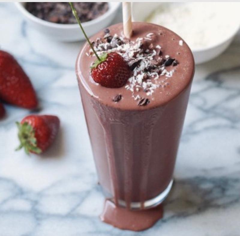 Шоколадный молочный коктейль